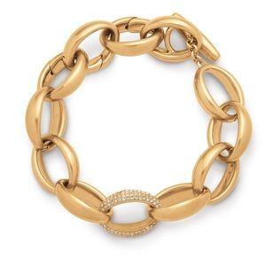 Stella & Dot Pave Chain Link Bracelet